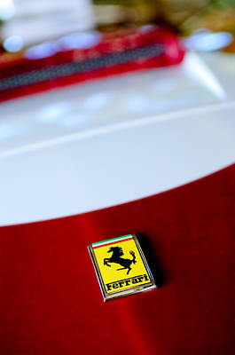 Photograph - 1960 Ferrari 250 Gt Swb Berlinetta Competizione Grille Emblem by Jill Reger