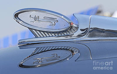 1960 Ford Starliner Photograph - 1960 Ford Hood Ornament by Kevin McCarthy