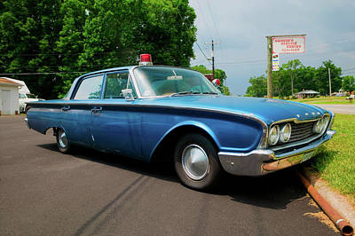 1960 Ford Police Car In Mount Airy Art Print