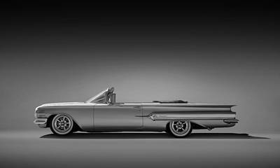 Chevrolet Impala Digital Art - 1960 Impala Convertible Coupe by Douglas Pittman