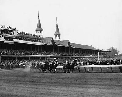 Crowd Photograph - 1960 Kentucky Derby Horse Racing Vintage by Retro Images Archive
