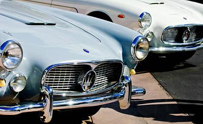 Photograph - 1960 Maserati Grille Emblem by Jill Reger