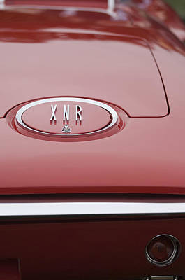 Photograph - 1960 Plymouth Xnr Ghia Roadster  Emblem by Jill Reger