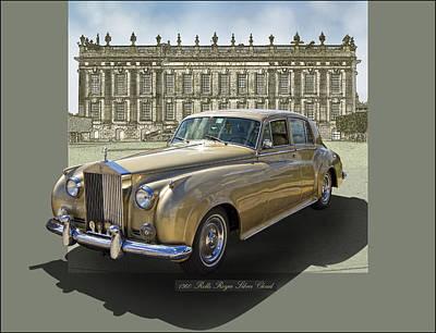 Mansion Digital Art - 1960 Rolls Royce Silver Cloud by Roger Beltz