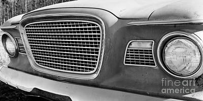 Photograph - 1960 Studebaker Lark Bw by Lawrence Burry