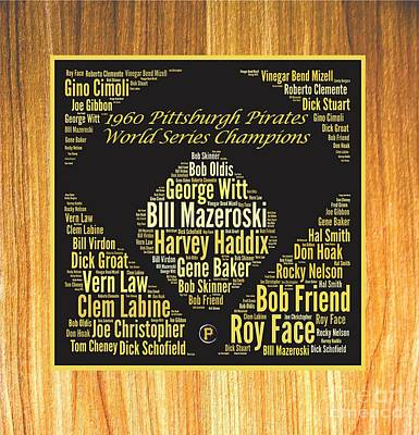 1960 World Series Champion Pirates Art Print