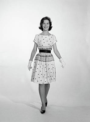 Erect Photograph - 1960s 1950s Smiling Woman Walking by Vintage Images