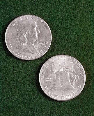 1960s 1963 United States Half Dollar Art Print