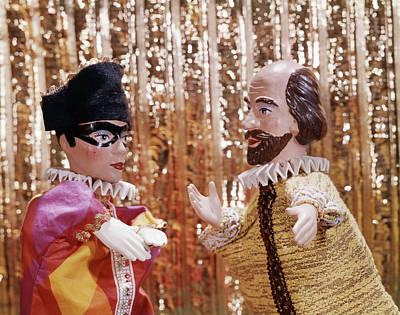 1960s 1970s Hand Puppets Show Harlequin Art Print