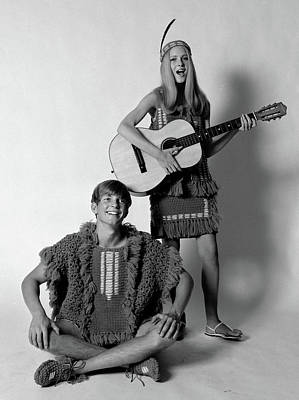 College Girls Wall Art - Photograph - 1960s 1970s Teenage Couple Dressed by Vintage Images