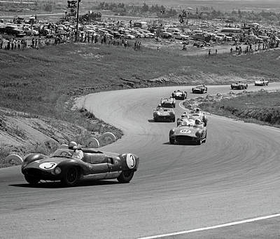 Serpentine Photograph - 1960s Auto Race On Serpentine Section by Vintage Images