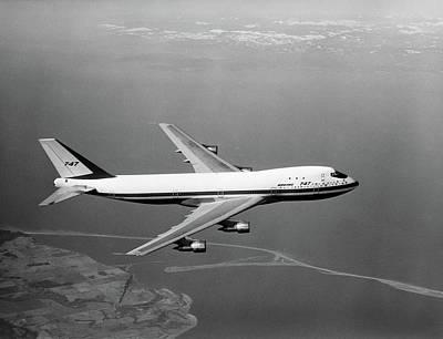 1960s Boeing 747 In Flight Art Print