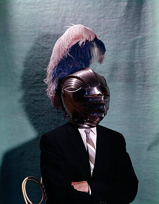Ostrich Photograph - 1960s Business Man Wearing 16th Century by Vintage Images