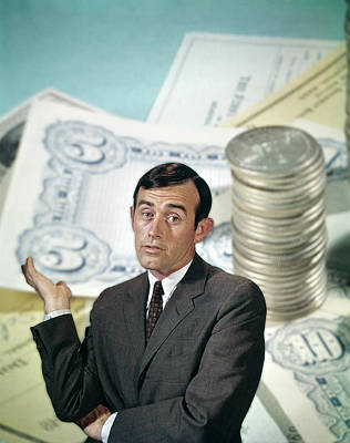 Cpa Photograph - 1960s Businessman Facial Expression by Vintage Images
