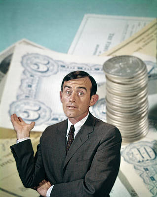 Cpa Photograph - 1960s Businessman Looking At Camera by Vintage Images