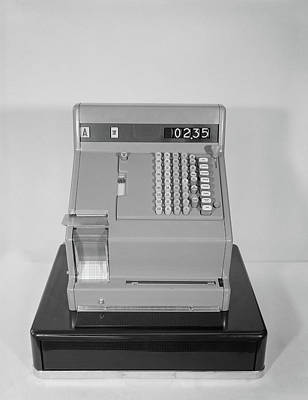 Cash Register Photograph - 1960s Cash Register With 2.35 Amount by Vintage Images