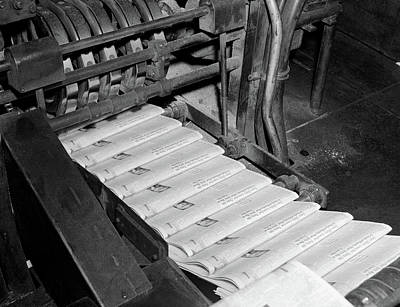 Publishing Photograph - 1960s Close-up Of Printing Press by Vintage Images