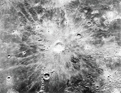 Ejecting Photograph - 1960s Craters On Lunar Surface Moon by Vintage Images