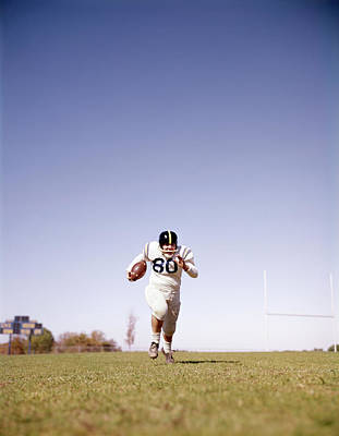 1960s Football Player Running Towards Art Print