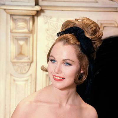 Bare Shoulder Photograph - 1960s High Fashion Blue Eyed Model by Vintage Images