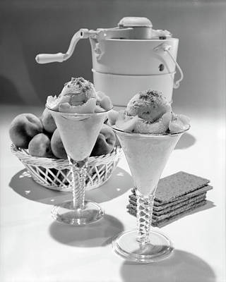 Peaches Photograph - 1960s Ice Cream Machine Home Made Peach by Vintage Images