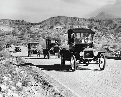 1960s Line Of 1920s Model T And 1930s Art Print