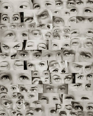 Vintage Camera Painting - 1960s Montage Of Eyes by Vintage Images