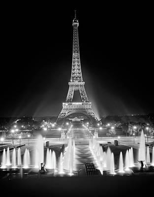 1960s Night Eiffel Tower Art Print