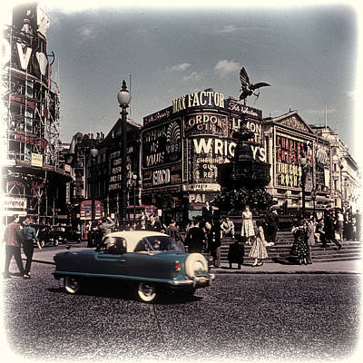 1960s Piccadilly Circus Art Print by Eric  Bjerke Sr