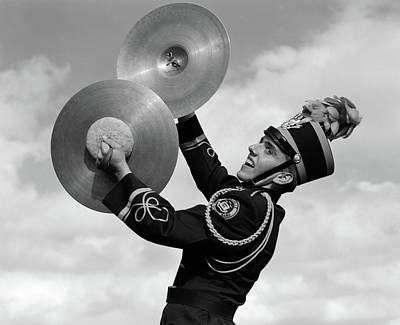 Marching Band Photograph - 1960s Portrait Of Boy In Band Uniform by Vintage Images