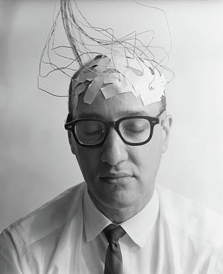 Communication Problems Photograph - 1960s Portrait Of Man Character by Vintage Images