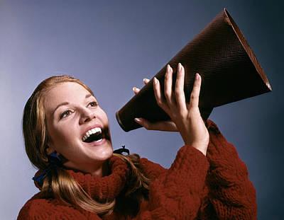 Loud Photograph - 1960s Portrait Teen Cheerleader Girl by Vintage Images