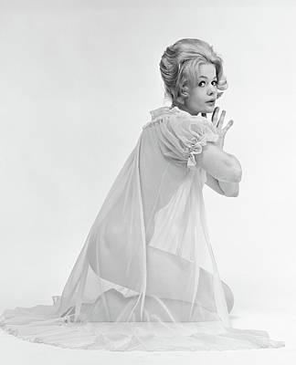 1960s Profile Portrait Of Blond Woman Art Print