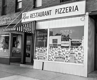 Storefront Photograph - 1960s Restaurant Pizzeria Storefront by Vintage Images