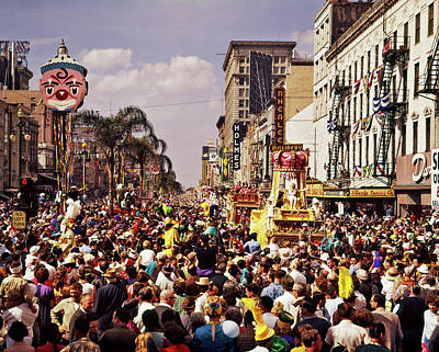 1960s Rex Parade On Canal Street Mardi Art Print