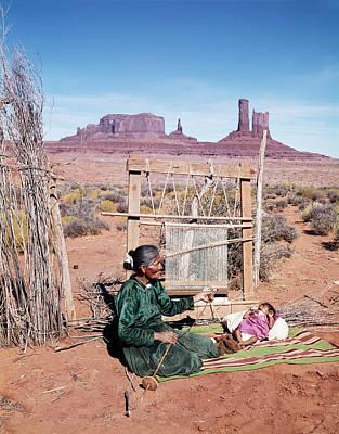 1960s Senior Navajo Woman & Baby Art Print