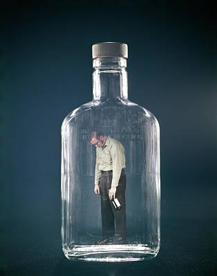 1960s Slumped Over Alcoholic Man Art Print
