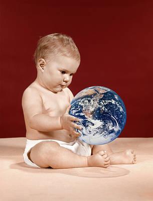 1960s Symbolic Ecology Serious Baby Art Print