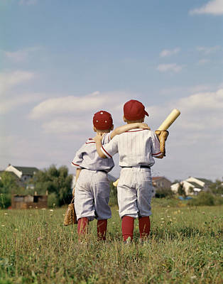 1960s Two Boys Brothers Teammates Art Print