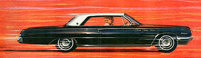 Buick Drawing - 1960s Usa Buick Magazine Advert Detail by The Advertising Archives
