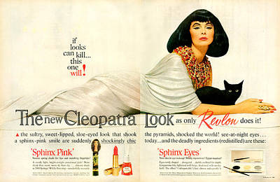 Lipstick Drawing - 1960s Usa Revlon Magazine Advert by The Advertising Archives