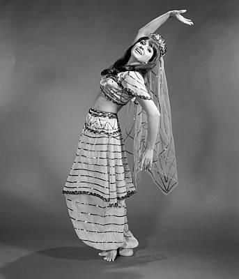 1960s Woman In Belly-dancer Costume Art Print