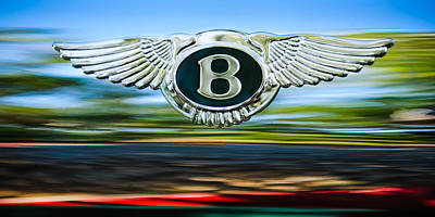Photograph - 1961 Bentley S2 Continental Emblem by Jill Reger