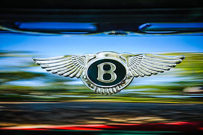 Photograph - 1961 Bentley S2 Continental - Flying Spur - Emblem by Jill Reger