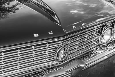 155 Photograph - 1961 Buick Skylark Bw by Rich Franco