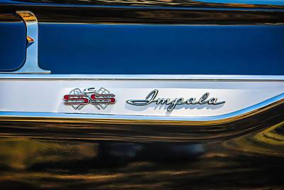 1961 Chevrolet Bel Air Impala Bubble Top Emblem -0603bwq Art Print by Jill Reger