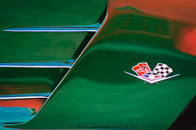 Photograph - 1961 Chevrolet Corvette Emblem by Jill Reger