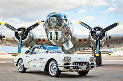 B-17 Photograph - 1961 Chevrolet Corvette by Jill Reger