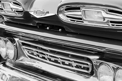 1961 Chevrolet Front End Emblem Print by Jill Reger