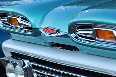 Chevy Truck Photograph - 1961 Chevrolet Headlights by Jill Reger